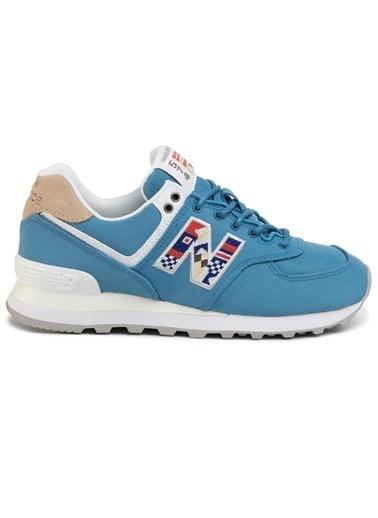 New Balance Kadın  Ayakkabı WL574SOG Mavi